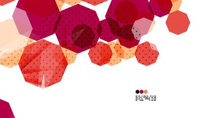 Bright red geometric modern design template