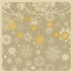 Retro vector Christmas (New Year) card. EPS 8