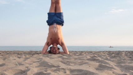 Yoga on the beach
