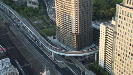 train traffic in Tokyo, Japan