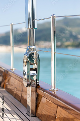 canvas print picture luxury sail boat parts detail