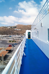 Ferry docked in Mykonos island, Greece