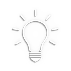 Sketchy electric bulb on a white background