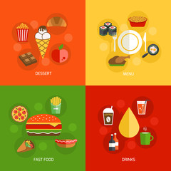 Food composition flat