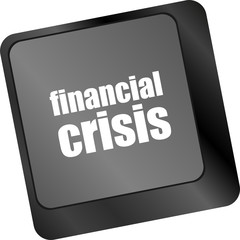 financial crisis key showing business insurance