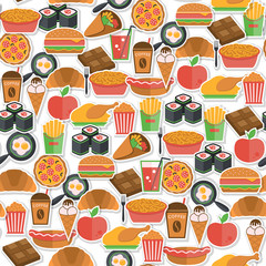 Fast food icon seamless