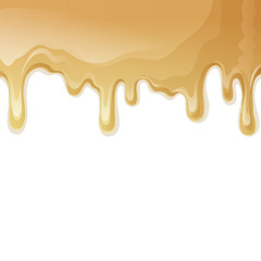 Caramel drips background