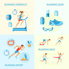 Running icons composition