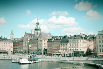 Stockholm, Sweden. Cross processing filtered tone.