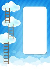 Cloud and blue background New 003