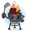 Barbecue Grill Cartoon Character with Attitude - 66313775