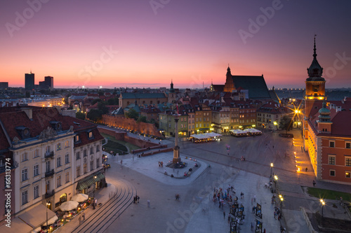 Warsaw Old Town Square at night|66313774