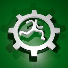 Run symbol