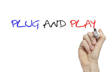Hand writing plug and play
