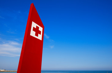 First Aid Sign - Barcelona Beach