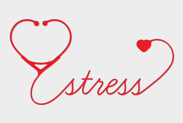 Medical stress symbol, cardiogram,  vector