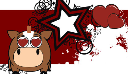 horse ball cartoon background1