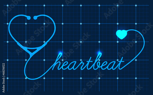 Medical Valentines symbol, vector