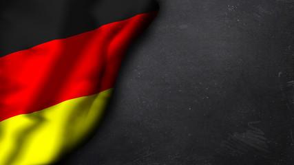 Deutschlandfahne auf Schiefertafel