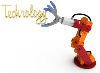 Robot arm hold Technology title word