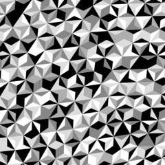 Black White Gray Triangle Pattern Vector