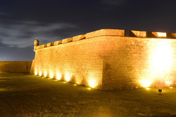 Castillo San Felipe del Morro at night, San Juan