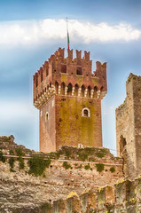 Scaliger Castle at Lazise, Lake Garda, Italy