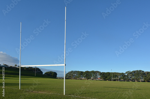 Foto op Canvas Stadion Rugby field