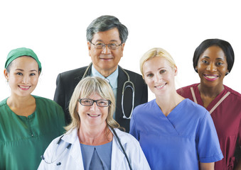 Multi-Ethnic Group of Doctors