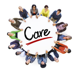 Multi-Ethnic Group of People and Care Concepts