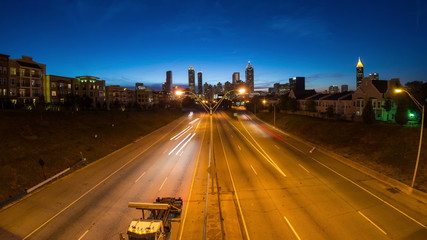 Atlanta Cityscape Time Lapse