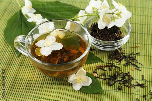 Jasmine tea on table