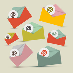 Vector Envelopes - E-mail Icons Set
