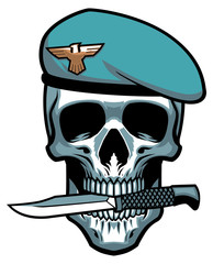 military skull bite the dagger