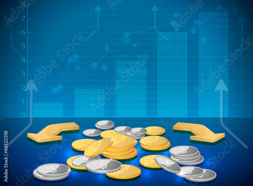 Investment on the rise vector business background
