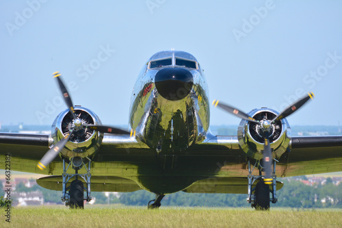 Poster viel avion a hélices