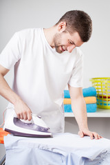 Man doing household chores