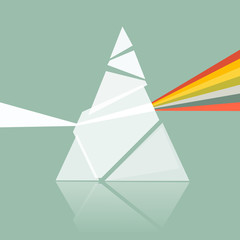 Prism Spectrum Illustration on Retro Background