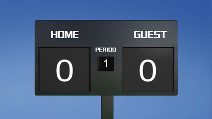 home win soccer match scoreboard