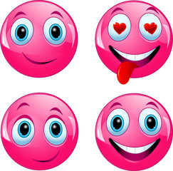 Pink smiley ball