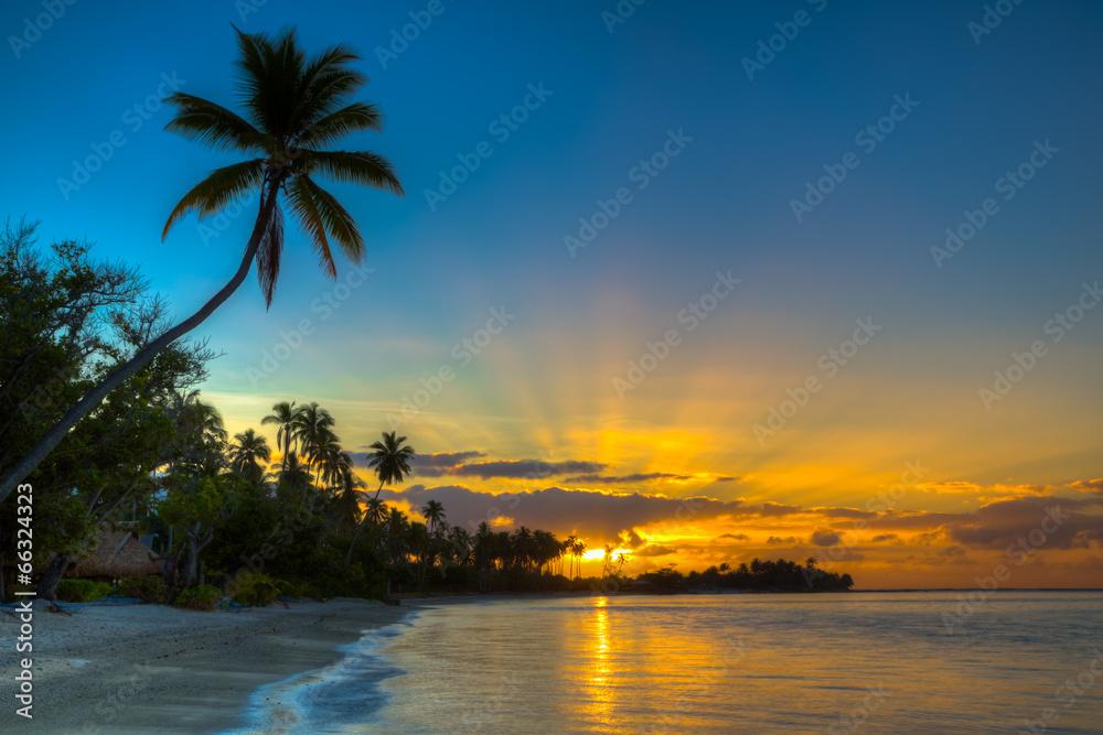 moorea plaża wyspa - powiększenie