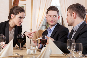 Colleagues during business meeting