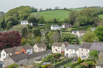 Laugharne, aerial view