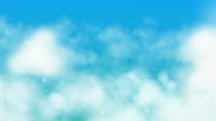 Flight over clouds seamless loop