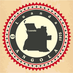 Vintage label-sticker cards of Angola