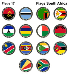 World flags. South Africa.