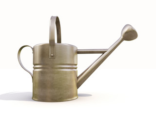 Watering can made of metal