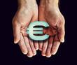euro icon hands