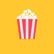 Popcorn. Cinema icon in flat dsign style. - 66328393