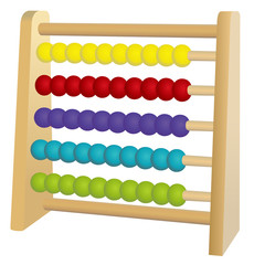 Vector format of horizontal colored abacus toy